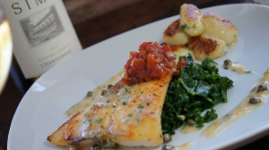 Crispy Rockfish Picatta with Potato Gnocchi and Tomato Fondue