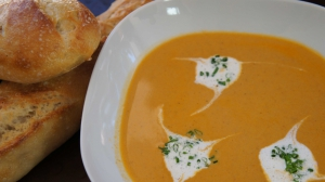 Shrimp Bisque and Brandy Cream